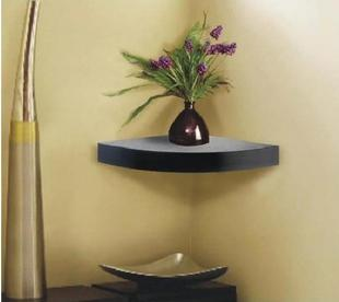 Deluxe Black Corner Shelf TXS06