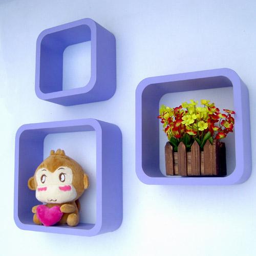 紫色圆角方形壁架